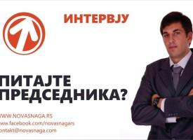 Postavite pitanje predsedniku Nove Snage: Hajde da zajedno menjamo Kragujevac na bolje!